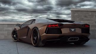 Lamborghini Aventador Chocolate LP777-4 trasera