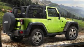 Jeep Wrangler Mountain, trasera