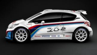 Lateral del Peugeot 208 R5 Rally car