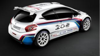 Trasera del Peugeot 208 R5 Rally car