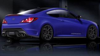 Hyundai Genesis Coupé de Cosworth, trasera