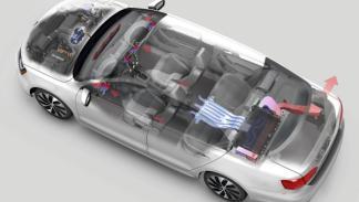 Volkswagen Jetta Hybrid esquema de las baterías