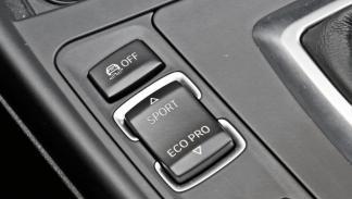 BMW 135i botón eco sport