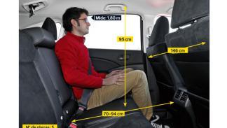 Honda CR-V 2.2 i-DTEC interior plazas traseras