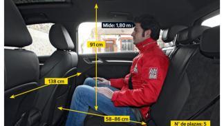 Audi A3 Sportback 1.8 TFSI 180 S tronic interior plazas traseras