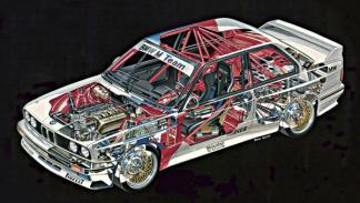 BMW M3 E30 gráfico interior
