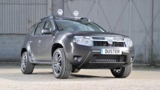 Dacia Duster Black Edition frontal 3/4 delantera