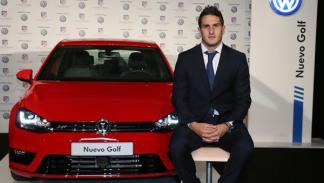 entrega volkswagen golf jugadores atlético de madrid Koke