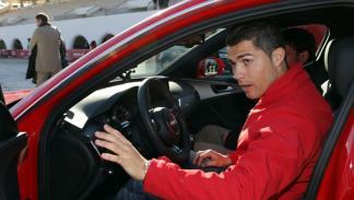 entrega coches audi jugadores real madrid cristiano ronaldo prueba coche