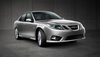 Saab_9-3_Aero_Sedan_Nev_2014_gris_frontal