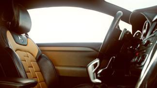 Los asientos cuentan con un degradado de aspecto dorado y metalizado