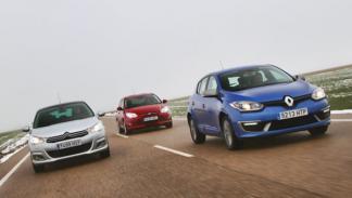 Citroën C4, Ford Focus, Renault Mégane movimiento