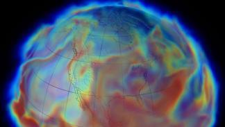 Ilustración de la humedad de al atmósfera durante una grandes inundaciones