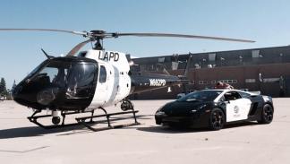 Lamborghini Gallardo y helicóptero