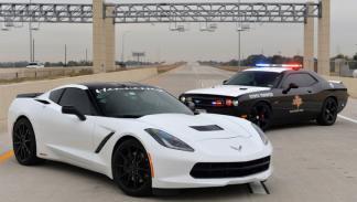Dodge Challenger de la policía american