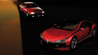 Renault Fuego de Idecore junto al clásico de los 80