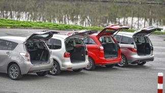 Comparativa de maleteros entre Grand C-Max, Mazda5, Verso y Touran
