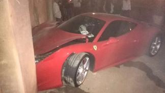 accidente Ferrari 458 Italia novia