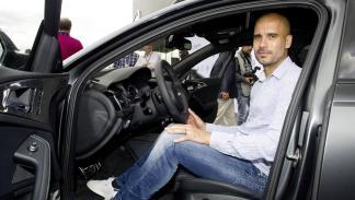 Jugadores Bayern de Múnich coches Audi Pep Guadiola