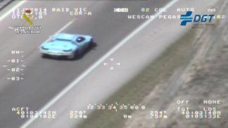 Imagen de la DGT del Ferrari de Deadmau5 a su paso por España