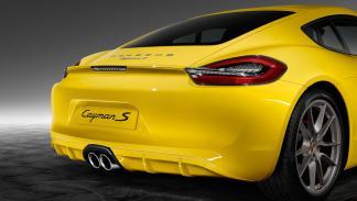 Porsche Cayman S Yellow Racing faros ahumados