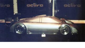 Audi GT1 Race Car en el túnel de viento