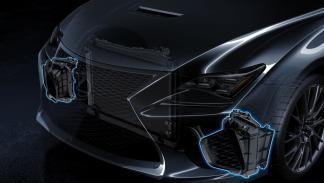 Lexus RC F entradas de aire delanteras
