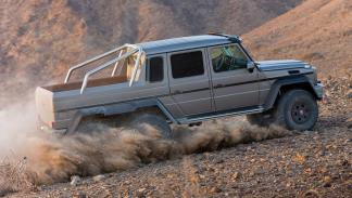 cinco todoterrenos radicales Mercedes G63 AMG 6x6 lateral