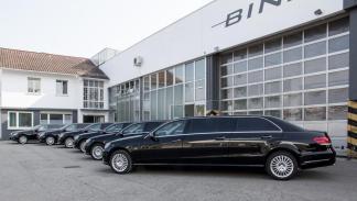 Mercedes clase e limusina seis puertas grupo
