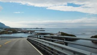 carretera del Atlántico en Noruega vista general