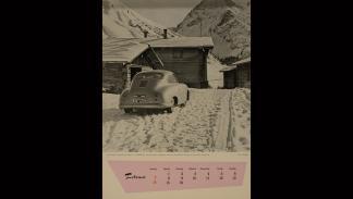 Calendario Porsche 1954 portada febrero