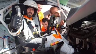 Santi Millán con el Seat León Cup racer