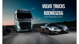 Volvo FH vs Koenigsegg Agera One - Poster