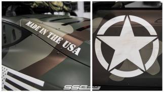 Tesla Model S camuflaje - pegatina fabricado en USA
