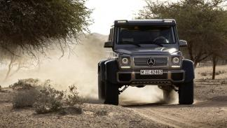 Cochazos millonetis exhibicionistas Mercedes G63 AMG 6x6 morro