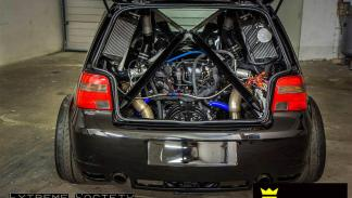 Golf III de Asgard de 1.500 CV zaga