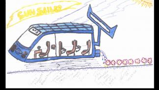 dibujo infantil prototipo Nissan boceto