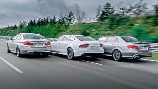 BMW M5, Mercedes E 63 AM y Audi RS7 Sportback en circuito zaga