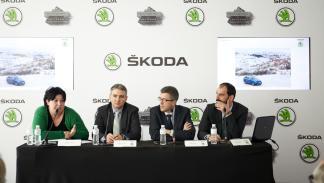 Entrega coche madrid campaña los70 guardianes del invierno Skoda