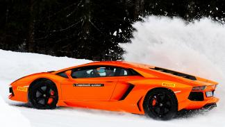 Cursos de conducción Lamborghini nieve