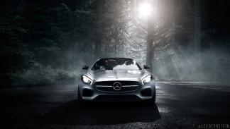 foto espectacular Mercedes AMG GT delantera