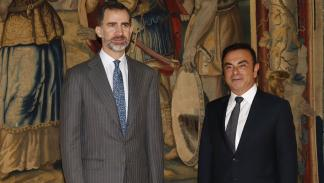 Encuentro entre el Rey Felipe VI y Carlos Ghosn