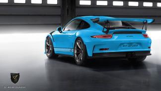 Colores del nuevo Porsche 911 GT3 RS 2015 Riviera Blue trasera