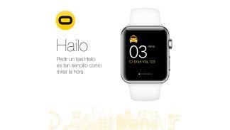 App Hailo para pedir taxi desde smartwatch - aplicación