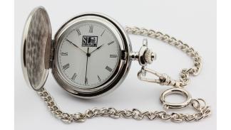 Reloj de bolsillo 69 Pit Stop - reloj abierto de cerca