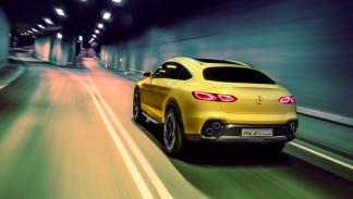 Mercedes GLC coupe concept dinamica trasera