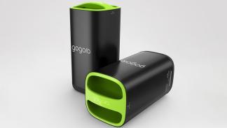 Vista de las baterías del Smartscooter taiwanés