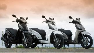 Circuitos cerrados y abiertos con scooter Kymco en el Salón de Barcel