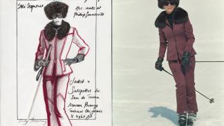 Así se diseñó el traje de esquí de Electra en la película de James Bond.
