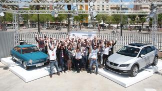 Imagen de los participantes en el evento Archithon en Barcelona